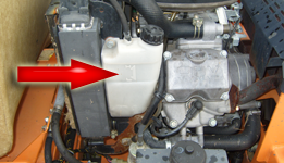 Radiator coolant level